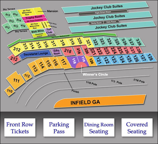 2015 Kentucky Derby Seating-Chart